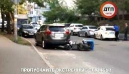 Мото дтп в Киеве на Драгомирова 10а. 02.05.2018