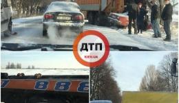 Аварии под Киевом. Гололед! 11.12.2017