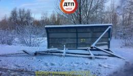 ДТП в Киеве на Троещине: устала остановка общественного транспорта. 11.12.2017