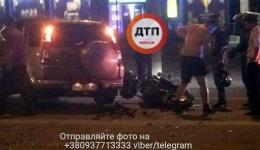 Ночное мото ДТП с пострадавшими в Киеве на ул.Гетьмана