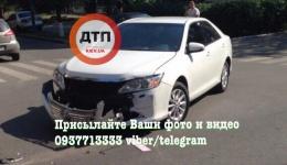 ДТП в Киеве на Примаченко: столкновение Киа и Тойота. ФОТО