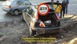 ДТП в Киеве на новой Ирпенской трассе, 2-й километр. 08.12.2017