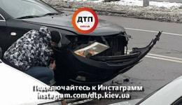 ДТП в Киеве на улице Здолбуновской, 7д. 12.12.2017