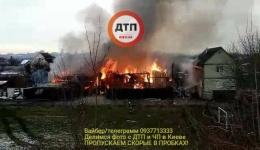 Обновление с места масштабного пожара в Киеве на Садовой 11. 12.12.2017