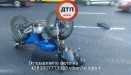 Мото ДТП в Киеве: Окружная напротив Ашана