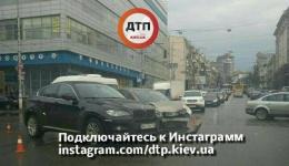 ДТП в Киеве на пересечении улиц С. Петлюры (Коминтерна) и Жилянской. 12.12.2017