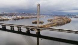 Киев. Будет ограничено движение на Южном мосту. 12.12.2017